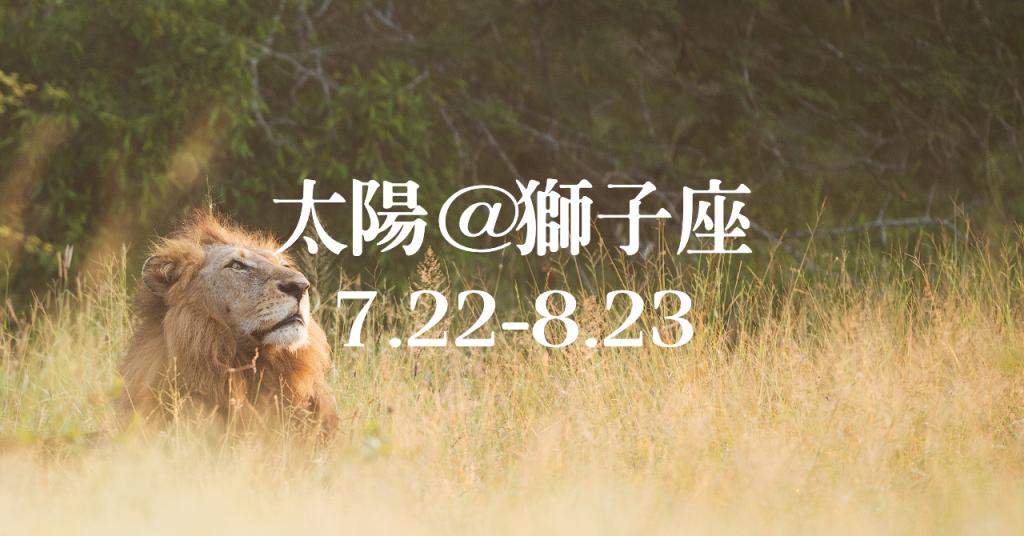 新月に導かれるように、7月22日に太陽が獅子座に移動。8月23日までは強い運気が渦巻く「獅子座の季節」です。